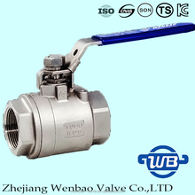 2pc Investment casting Femal Thread Ball Valve with Manual Lock