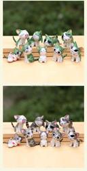 Attractive designs shinny/shine laugh cute cat figure plastic dust plug