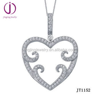 Chinese wholesale cheap price 925 sterling silver micro pave set cz chinese wholesale cheap price 925 sterling silver micro pave set cz heart shape pendant mozeypictures Image collections