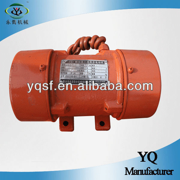 YongQing produced YZS-1.5-4 AC three phase electric motor with 1.5KN exciting force and 0.12KW