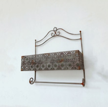 Ant Grey Wall Hanging Iron Metal Flower Pot <strong>Plate</strong> Rack