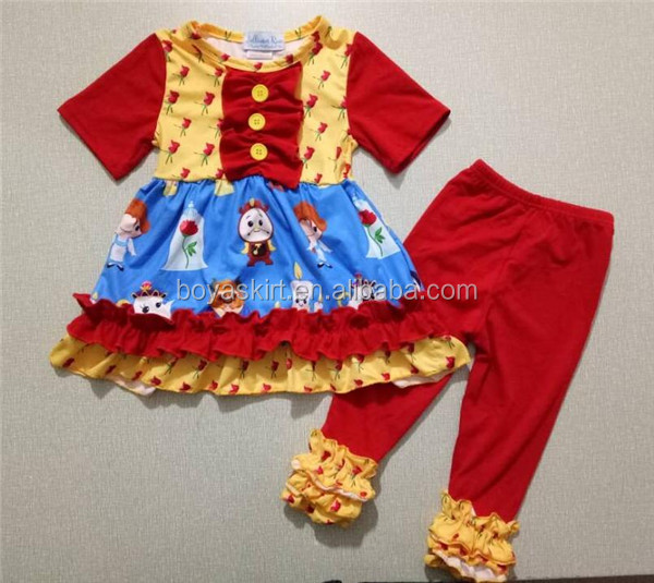 Professional Yiwu china wholesale custom made beauty princess clothing manufactures kids clothes