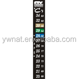 18 - 34 C degree Sticker Aquarium Fish Tank Liquid Crystal Thermometer