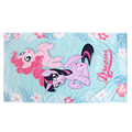 Luxury pink printed bath towel in 100% cotton