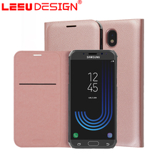 LEEU DESIGN durable leather flip cover case for samsung galaxy j5 covers J530