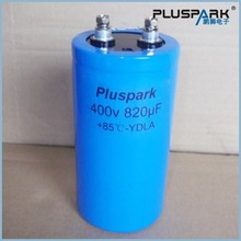 Electrolytic Capacitor 400V 820uF, Long life Industrial grade capacitor, Screw Terminal