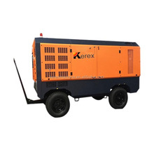 high pressure 20bar 950cfm diesel portable screw air compressor for mining quarry