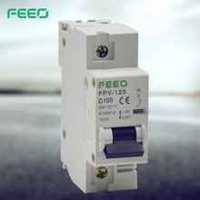 1200V DC 1 pole Electrical MCB With Auxiliary Contact