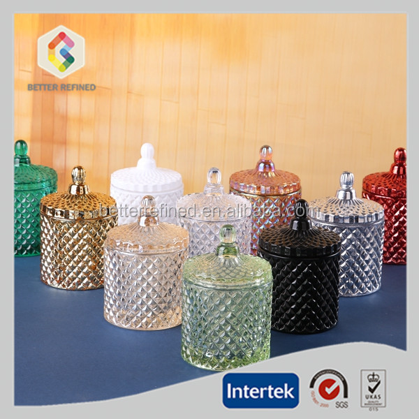 airtight candle glass vessels crystal candle jar