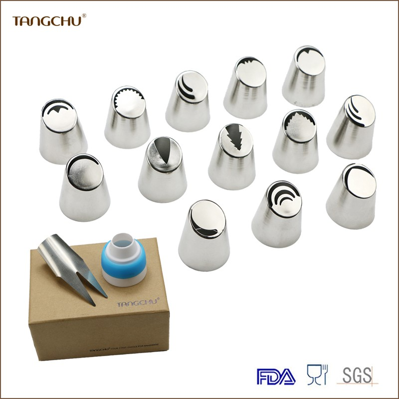 Wholesales Stainless steel Russian Christmas icing nozzles Piping icing Tips