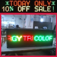 Sunrise lighting glass wall panel linsn sending card rgy tri-color programmable led sign