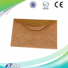 Brown environmental protection cheap exquisite gift card paper envelope