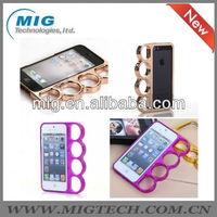 newest products 4 Rings Knuckles case for iphone 5, Phone cover for iphone 5S case 10 colors optional