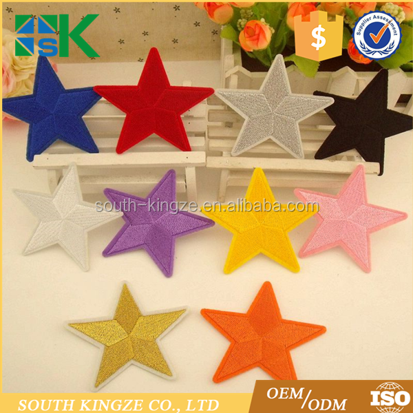 Multi Colors Star Embroidered Iron on Sew on Applique Patches