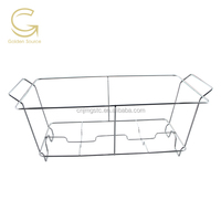 Metal full size wire chafer rack/ supporting standard full size foil pans rack /chafer shelf