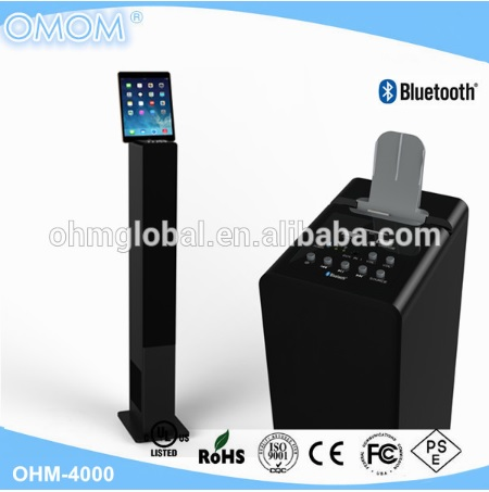 Floor standing Tower Speaker with bluetooth and powerful subwoofer OHM 4000