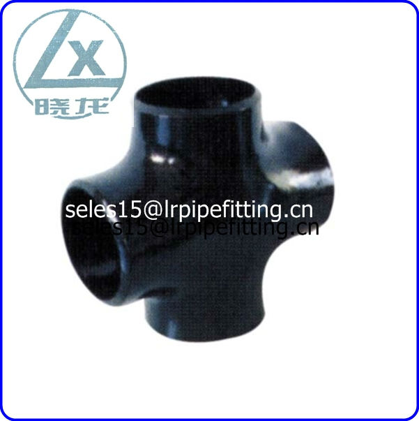 ASTM A234 WPB CS equal cross pipe fitting