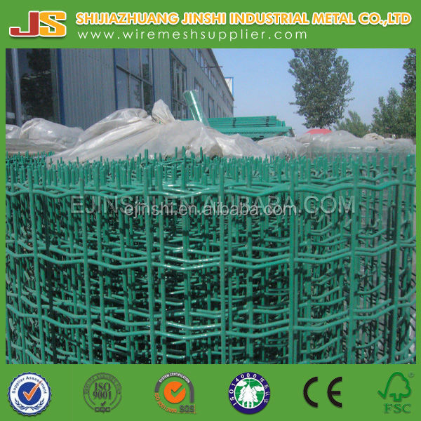 EURO FENCE INCLUDING POSTS - GREEN PVC COATED WIRE FENCING 120cm TALL 20m ROLL (ISO9001 Factory)
