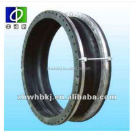 DN25-DN600 single sphere flexible rubber expansion joint seal with flange end