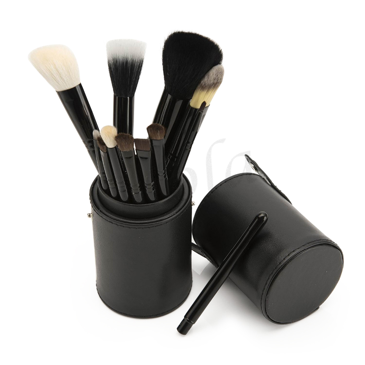 cosmetics manufacturing equipment pro 12 pcs Canister makeup brush set