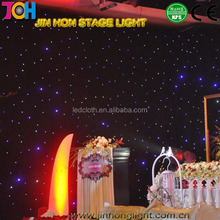 Wedding backdrop cloth , star shower safety light led curtain for theater