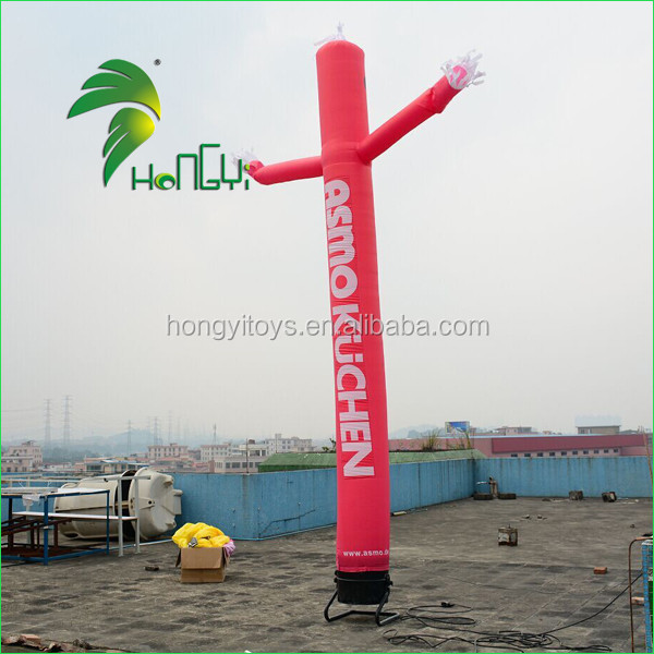 Red inflatable car wash air dancer , welcome air dancer