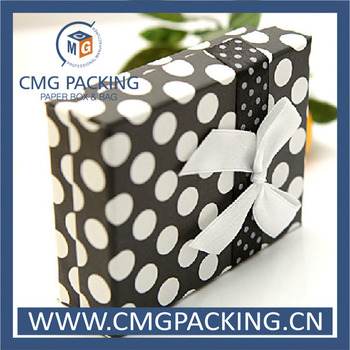 dot printing cardboard jewelry box with factory price