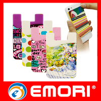 Top Quality Full Color Print silicone self-adhesive mobile phone pouch