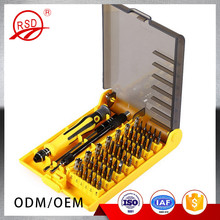 Precision multi-functional 45 in 1 smartphone tool hexagon ratchet screwdriver bit set