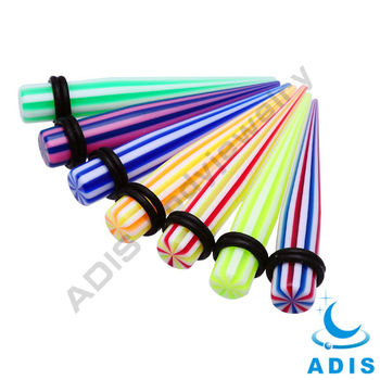 colorful acrylic piercing jewelry sizes ear plug gauge ear taper body jewelry