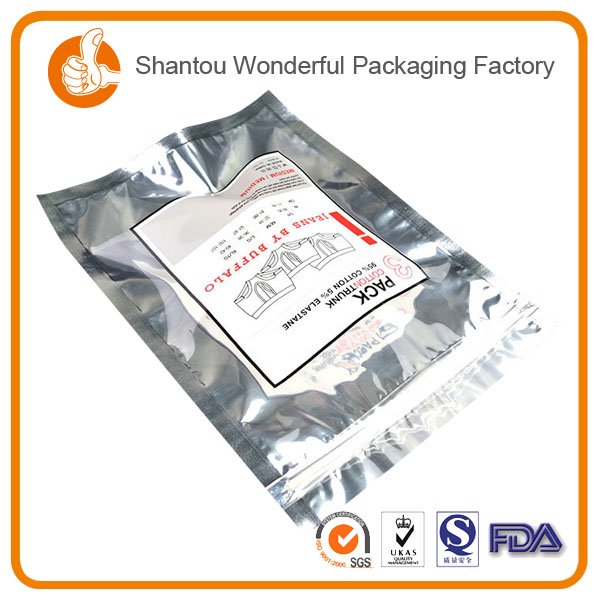 Resealable standing up pouch bag biscuit packaging design with plastic air tight packaging for potato chips