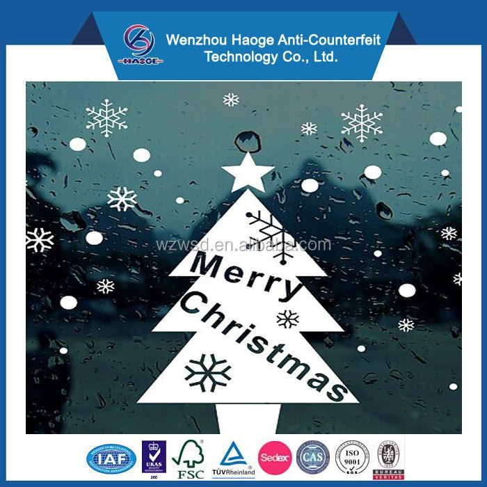 Merry christmas window sticker & christmas static cling sticker