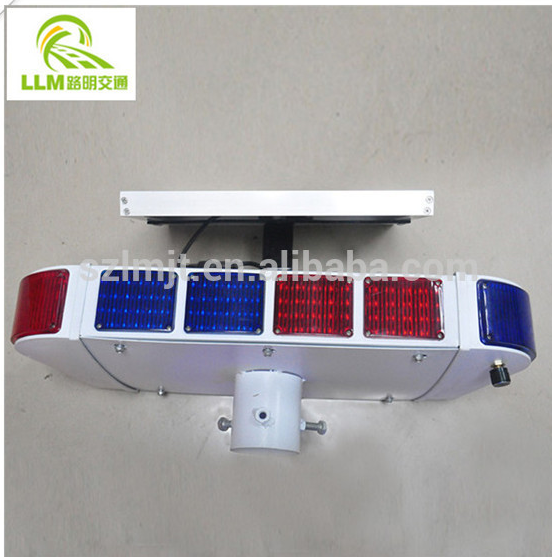 Anti-sunburn and Rainproof road safety solar flashing traffic warning light