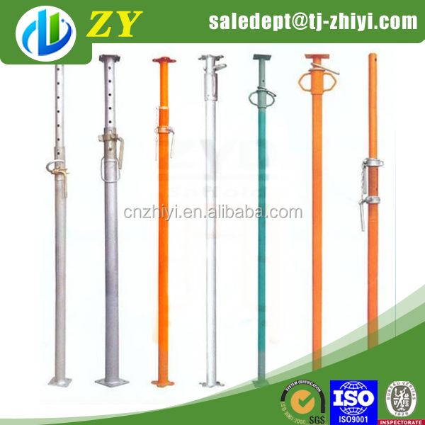 Hot sale galvanized adjustable extension steel support rod and vertical pipe support