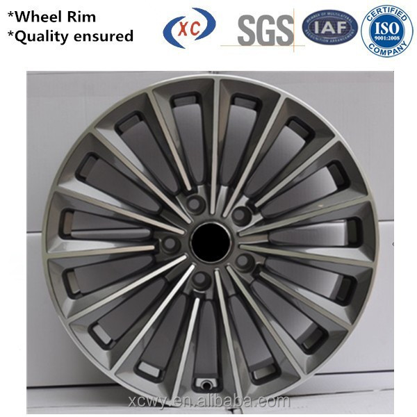 Durable replica deep dish racing wheel rim 15 inch chrome wheel rim