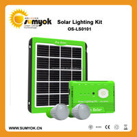 Hot selling 5W solar energy system with 2pcs led lamp for outdoor activitics