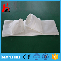Fiber dust filter bag for dust collector
