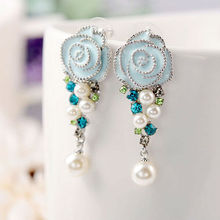 New Trend Fresh Water Pearl Earrings Flower Fashion Jewelry in alibaba