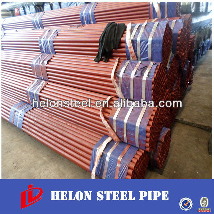 indian red steel tube