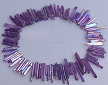 electric purple quartz crystal raw massage wands/column/points