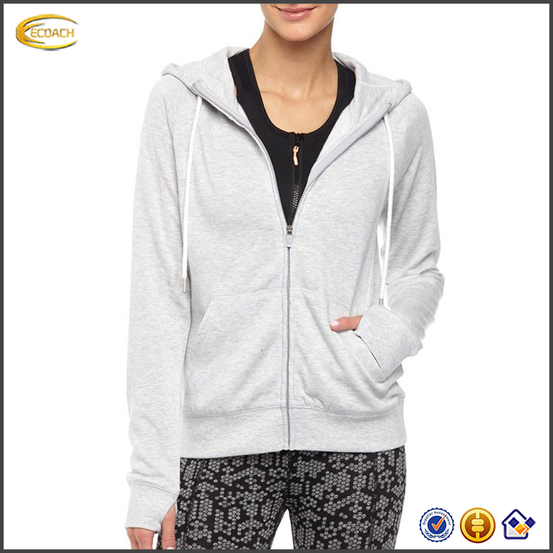 2017 NEW Wholesale Custom Logo Hot Selling Sports Yoga Fitness Women Zip Up Hoodies