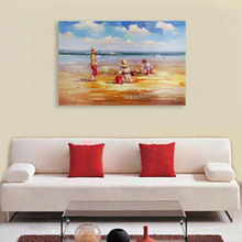 Pop abstract modern mediterranean seascape children figure oil painting famous