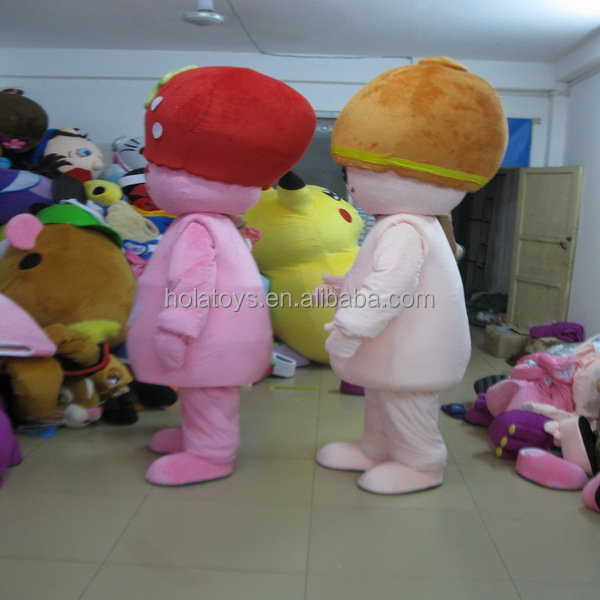 Hola Pink with fruit used mascot costumes for sale