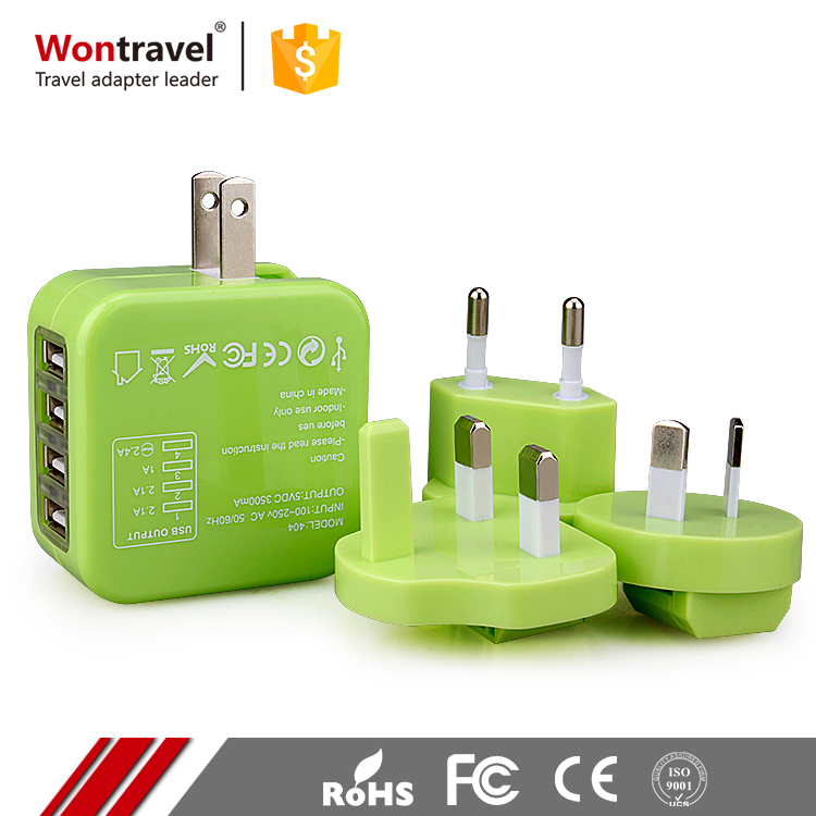 Wontravel Cell Phone Accessories Universal Adapter Charger USB Worldwide Travel Adaptor For iPhone 6S