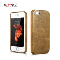 XOOMZ PU Leather Case for Apple iPhone 5 / 5S Ultra Thin Back Cover for iPhone SE