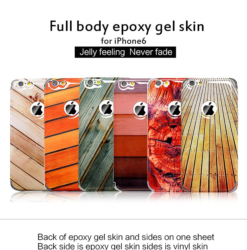 Full body epoxy gel skin TPU case cover for samsung galaxy S4 S3 s2