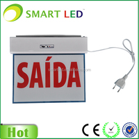 rechargeable led exit light CE SAA emergency exit light with battery back-up exit sign