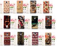 Blue-ray IML Craft TPU Back Cover Flexible Case for Galaxy Note 4 Samsung N910(Cute Watermelons)