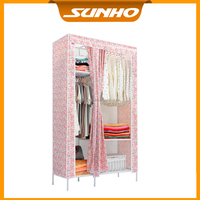 Portable Clothes Closet Wardrobe Storage Organizer with Shelves