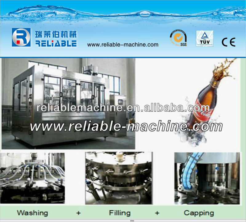 Automatic Drink Mixing With Gas Filling Machine Glass Bottle